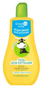 Гель для купания Greenlab little на молоке с ромашкой и Д-пантенолом